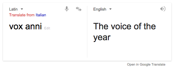 Google translate for Vox Anni